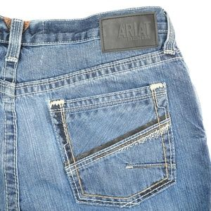 Ariat Distressed Dark Wash Low Rise Boot Cut Jeans